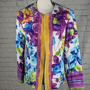 Peck and peck flowered jacket